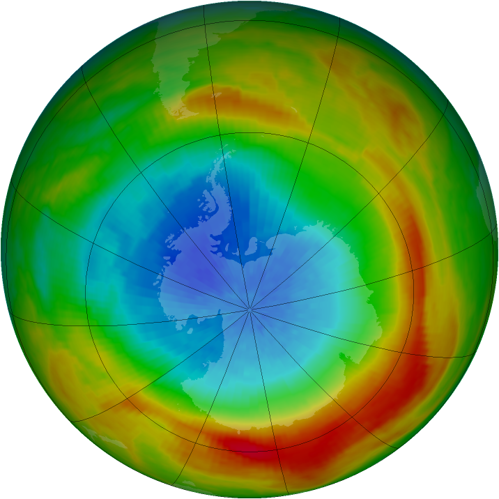 Antarctic ozone map for 12 October 1981