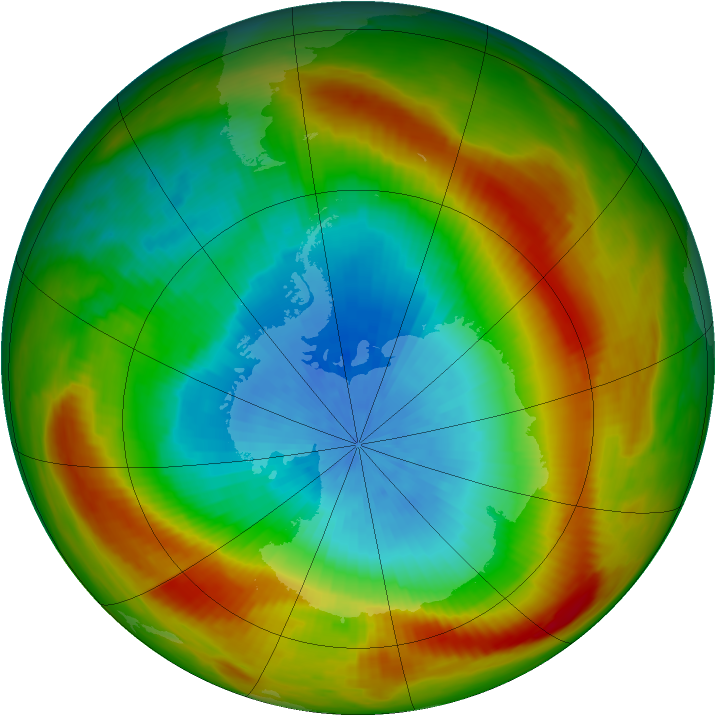 Antarctic ozone map for 15 October 1981