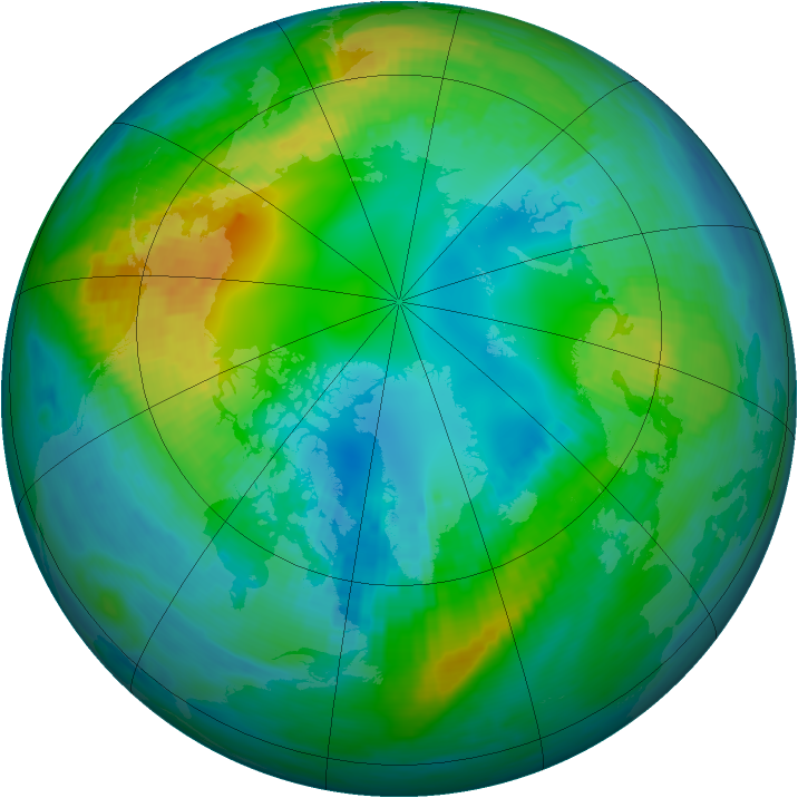 Arctic ozone map for 01 November 1981