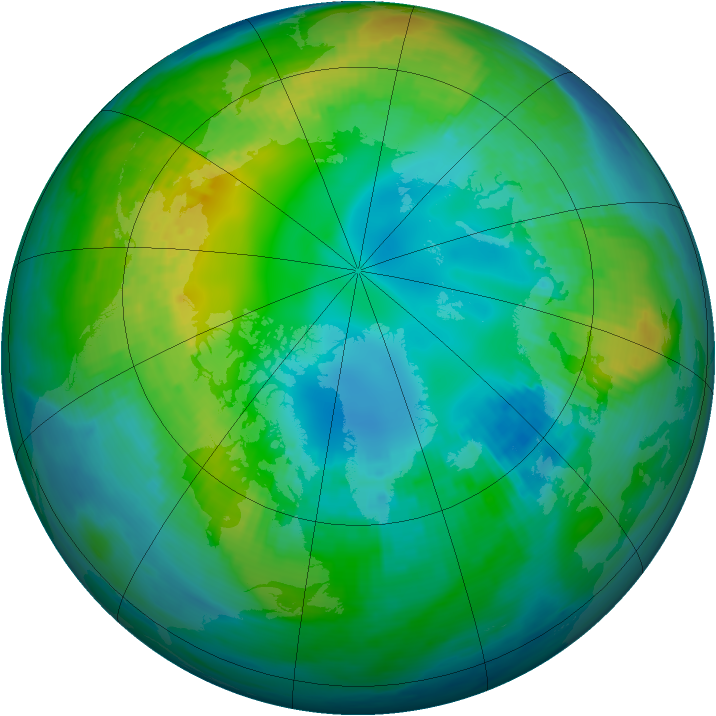 Arctic ozone map for 03 November 1981