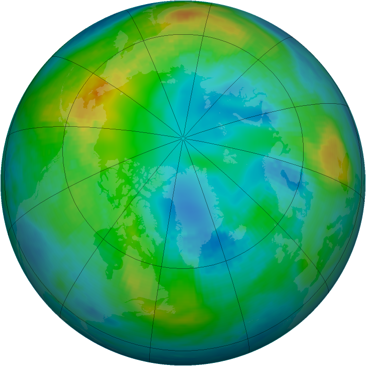 Arctic ozone map for 04 November 1981