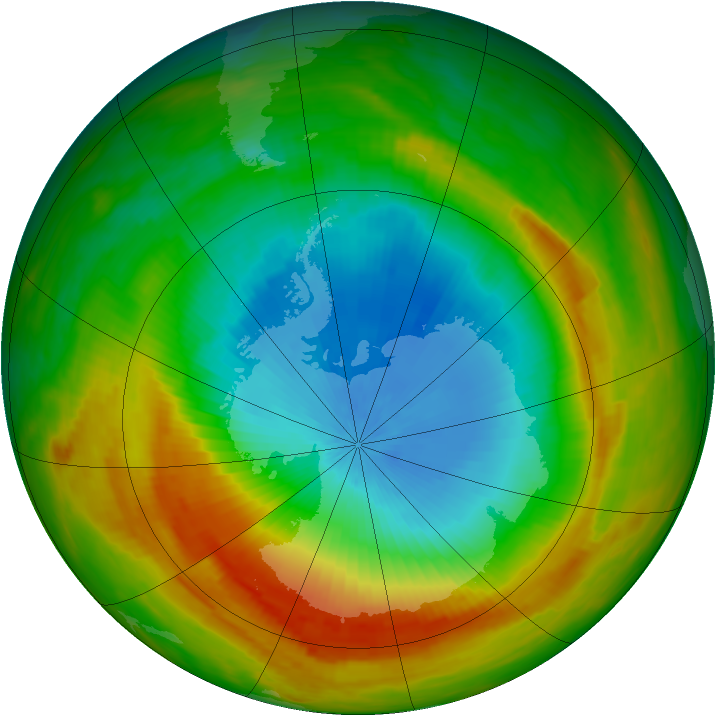 Antarctic ozone map for 04 November 1981