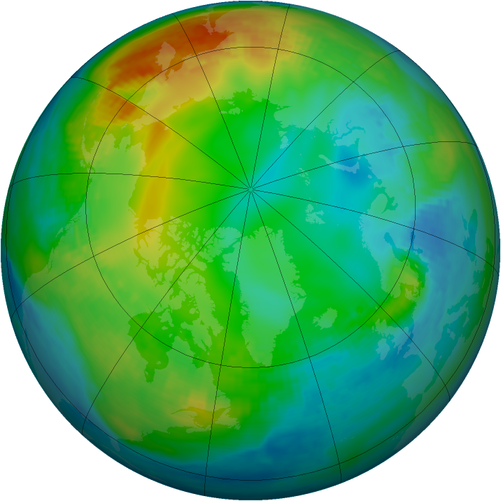 Arctic ozone map for 24 November 1981