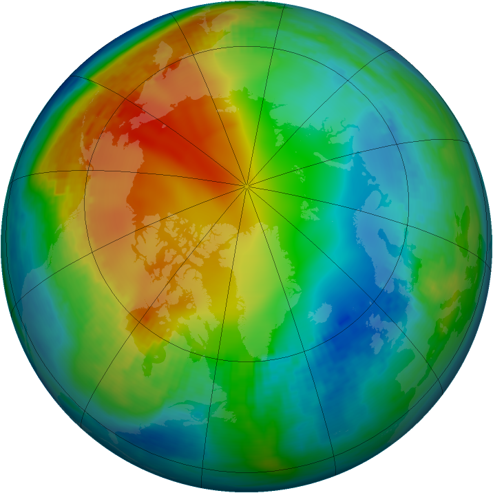 Arctic ozone map for 02 December 1981