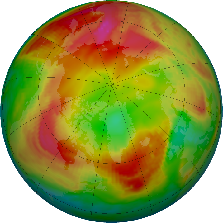 Arctic ozone map for 01 February 1982