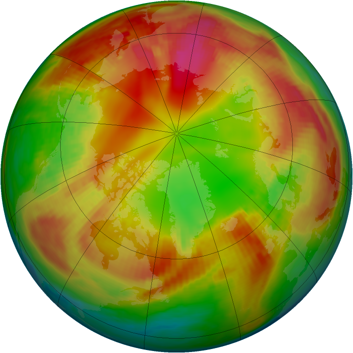 Arctic ozone map for 05 February 1982