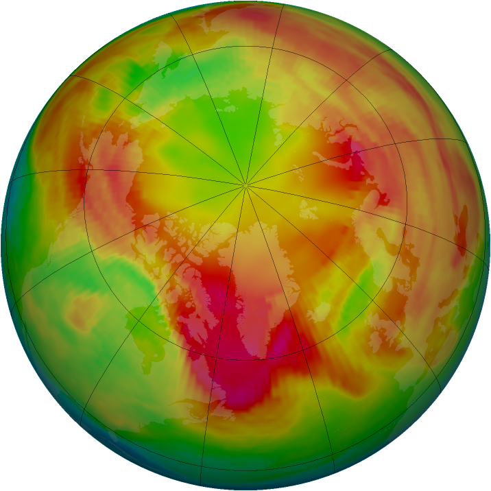 Arctic ozone map for 17 February 1982
