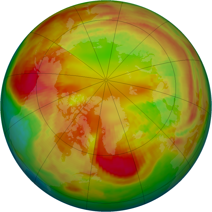 Arctic ozone map for 20 February 1982
