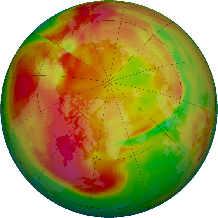 Arctic ozone map for 26 February 1982