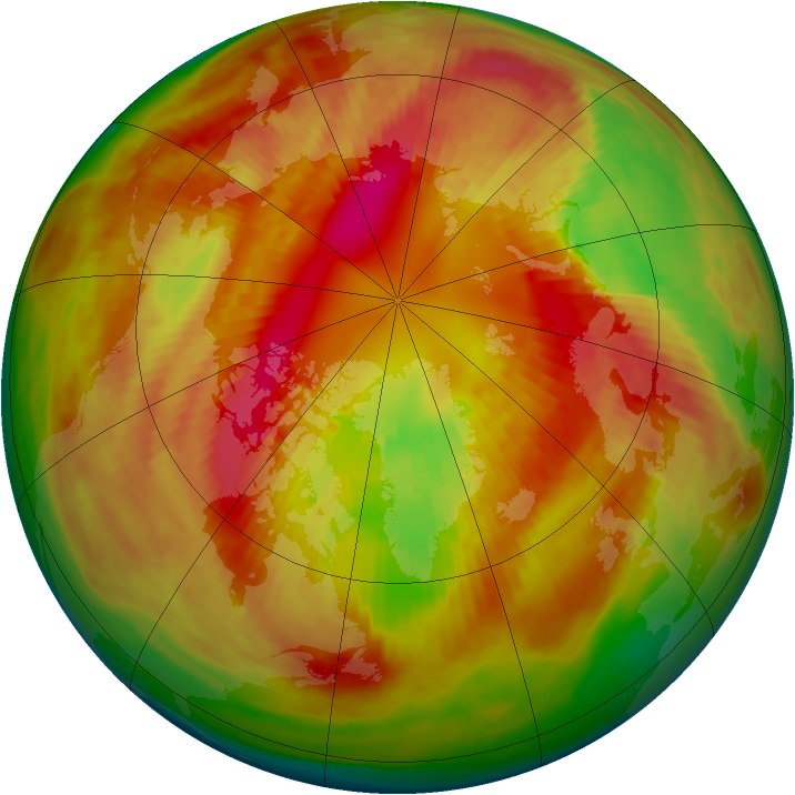 Arctic ozone map for 03 March 1982