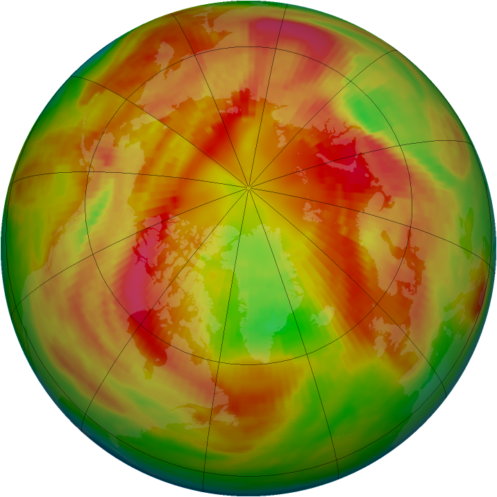 Arctic ozone map for 04 March 1982