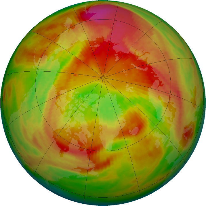 Arctic ozone map for 06 March 1982