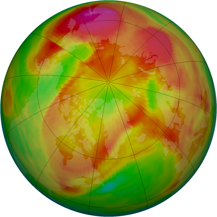 Arctic ozone map for 09 March 1982