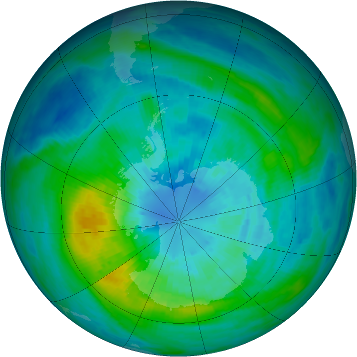 Antarctic ozone map for 26 March 1982