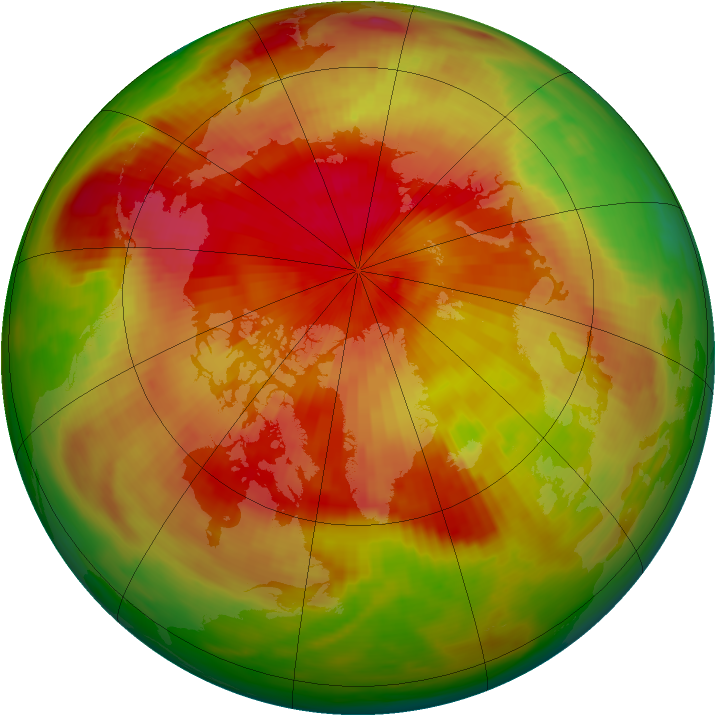 Arctic ozone map for 19 April 1982