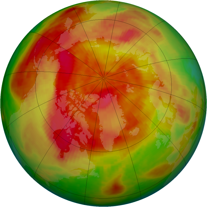Arctic ozone map for 27 April 1982