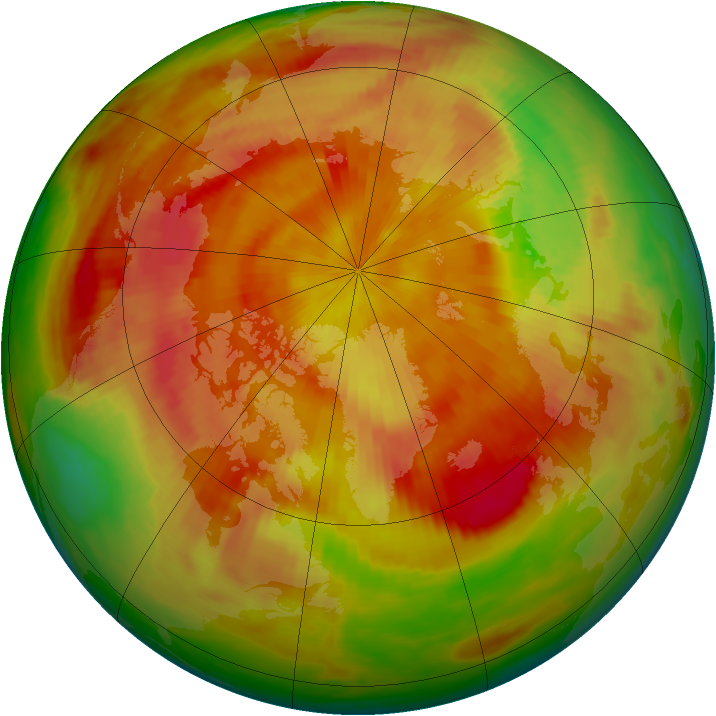 Arctic ozone map for 02 May 1982