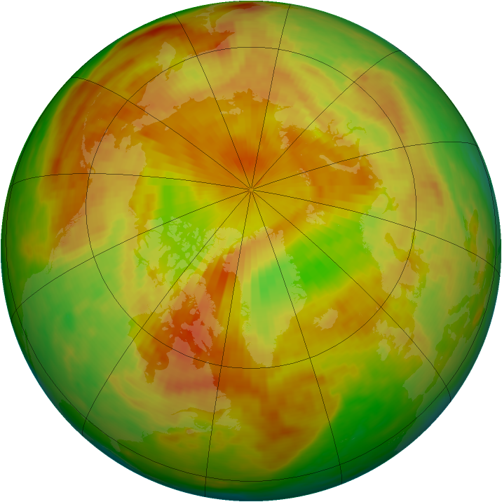 Arctic ozone map for 20 May 1982