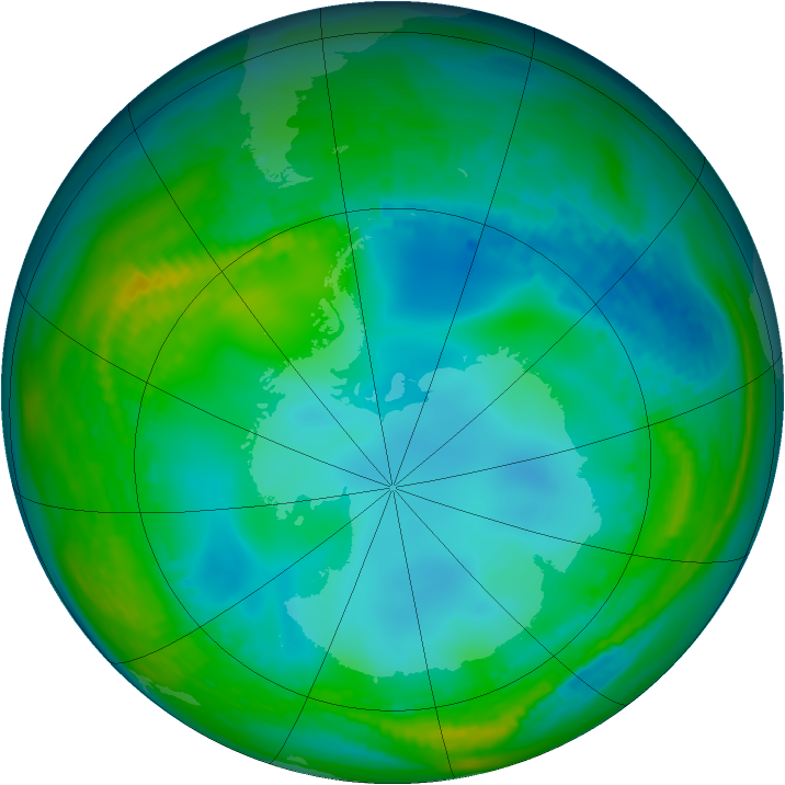 Antarctic ozone map for 26 May 1982
