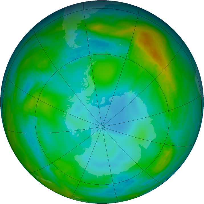 Antarctic ozone map for 02 June 1982