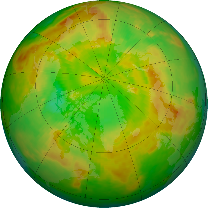 Arctic ozone map for 15 June 1982