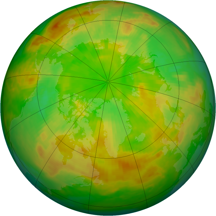 Arctic ozone map for 19 June 1982