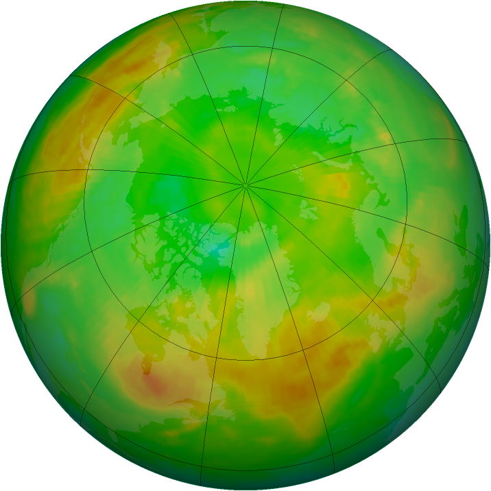 Arctic ozone map for 30 June 1982