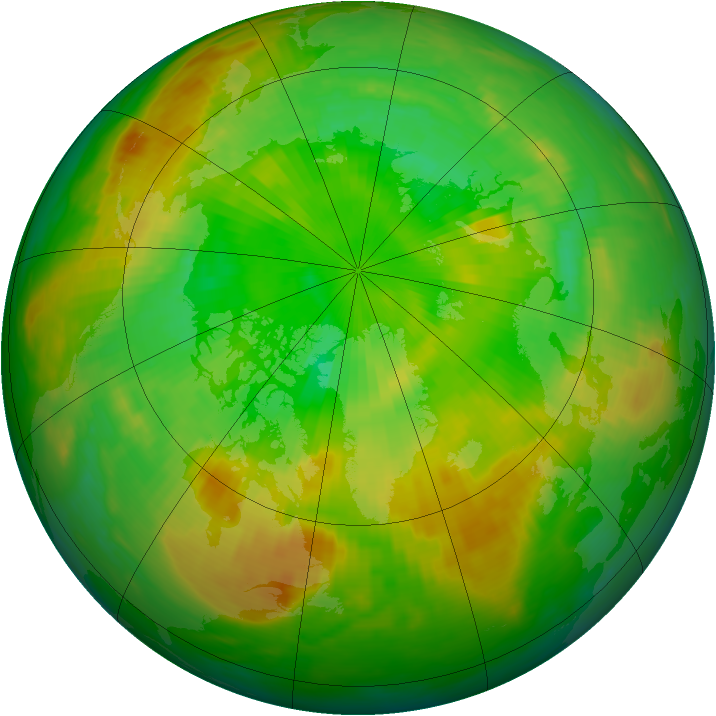Arctic ozone map for 01 July 1982