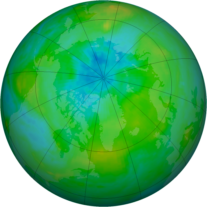 Arctic ozone map for 08 September 1982