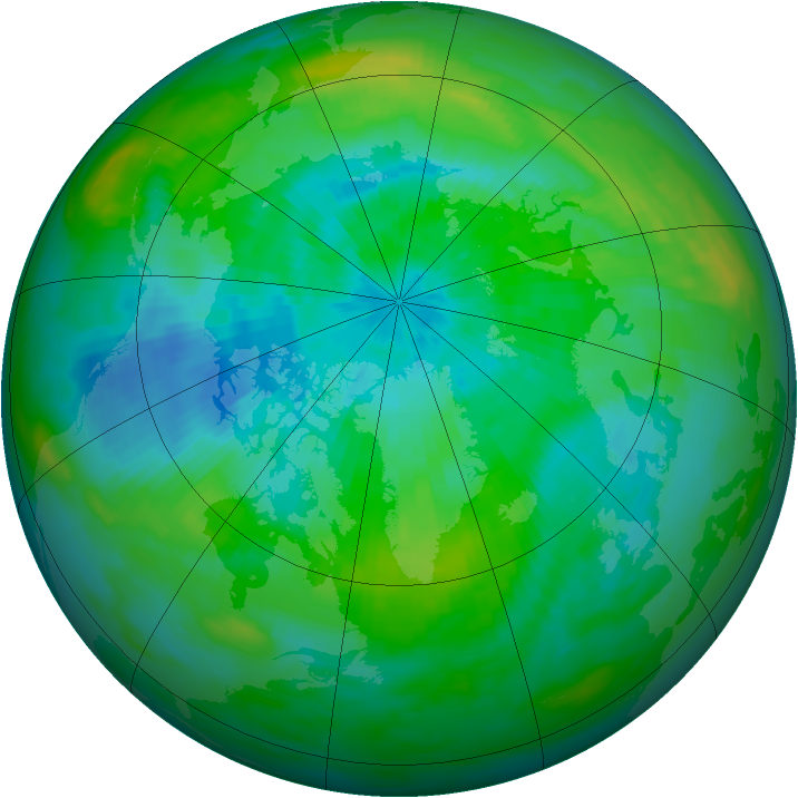 Arctic ozone map for 16 September 1982