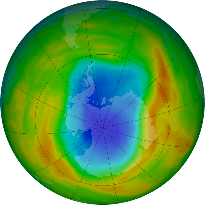 Antarctic ozone map for 02 November 1982