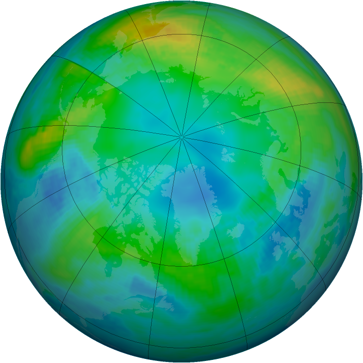 Arctic ozone map for 03 November 1982