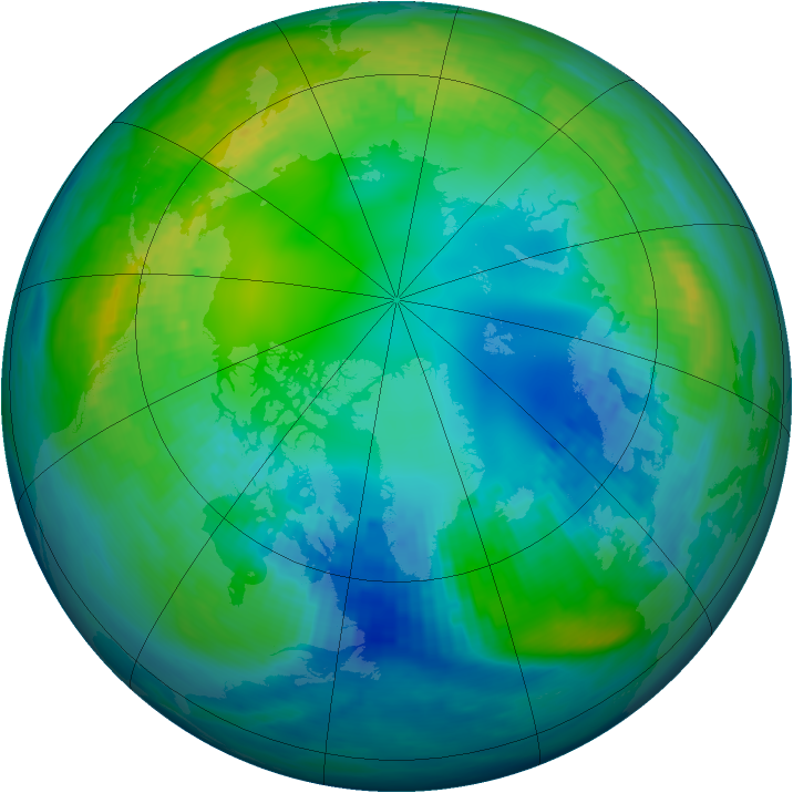 Arctic ozone map for 06 November 1982