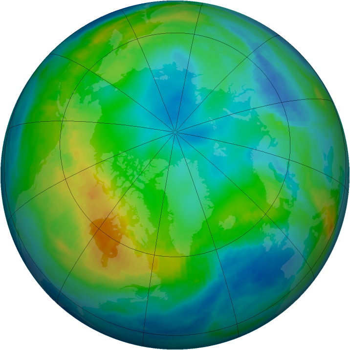 Arctic ozone map for 17 November 1982