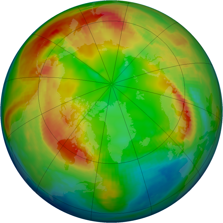 Arctic ozone map for 02 February 1983