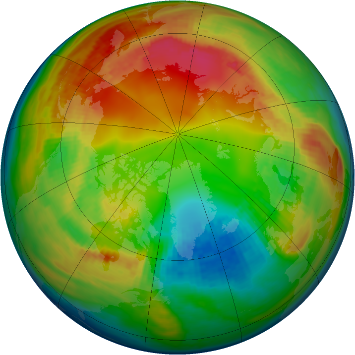 Arctic ozone map for 06 February 1983