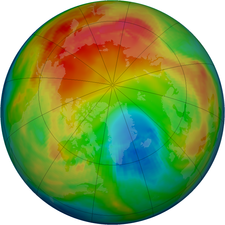 Arctic ozone map for 07 February 1983