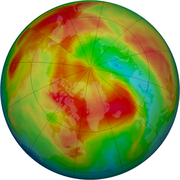 Arctic ozone map for 04 March 1983