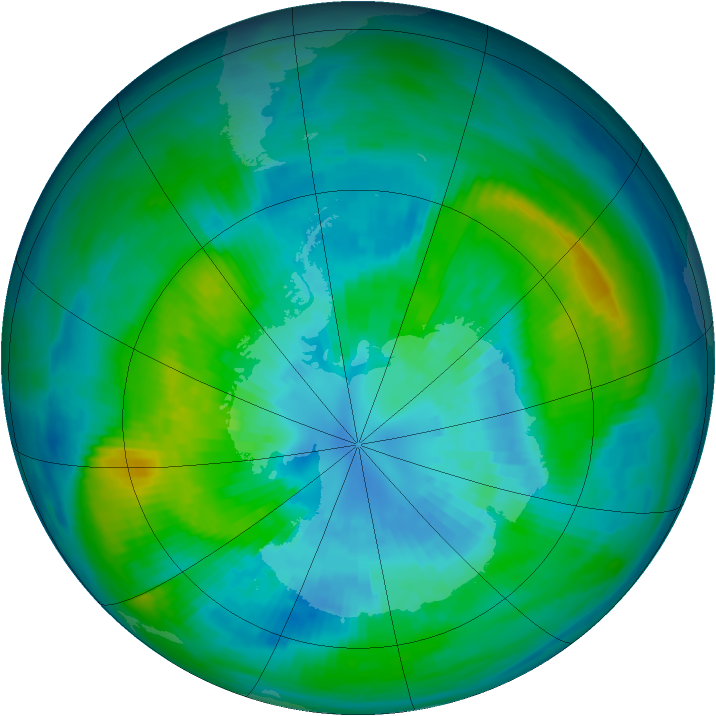 Antarctic ozone map for 30 March 1983
