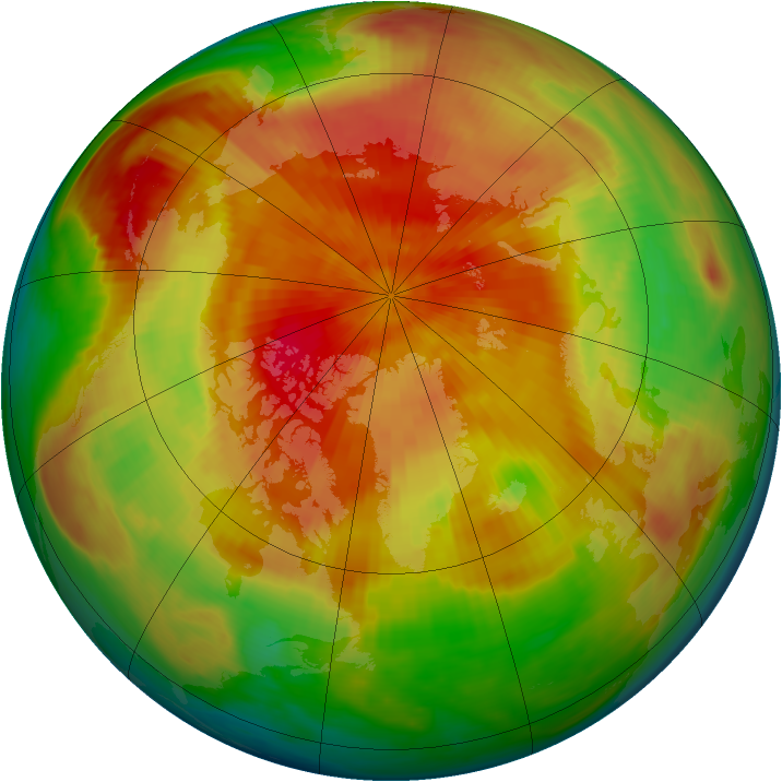 Arctic ozone map for 03 April 1983