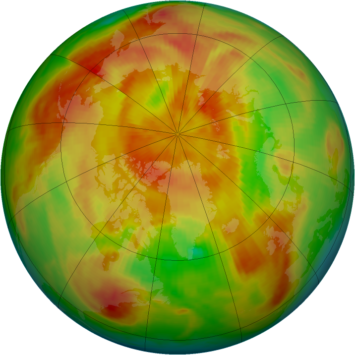 Arctic ozone map for 20 April 1983