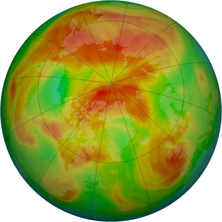 Arctic ozone map for 25 April 1983
