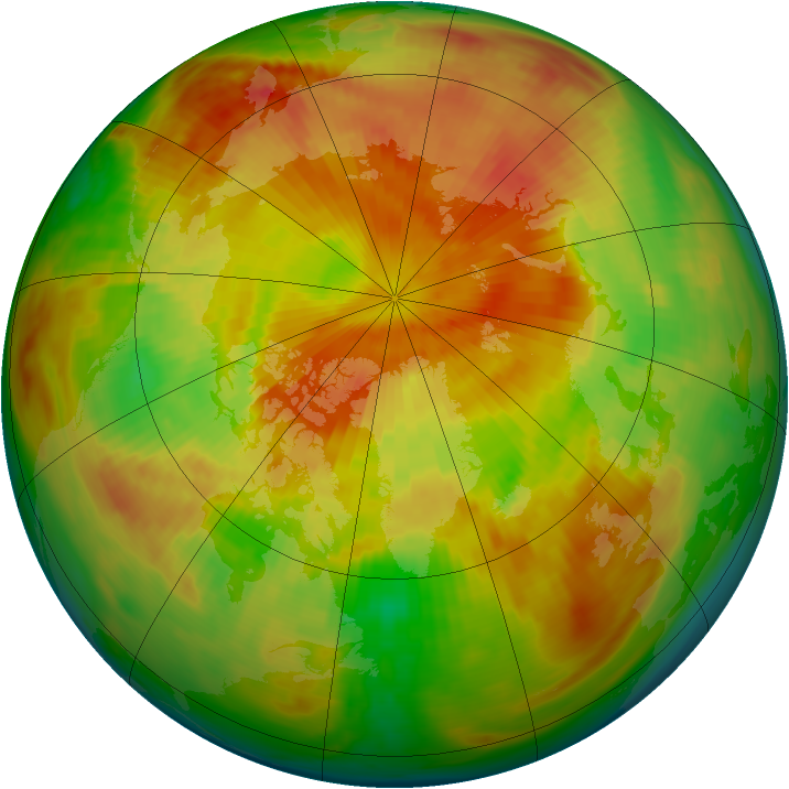 Arctic ozone map for 27 April 1983