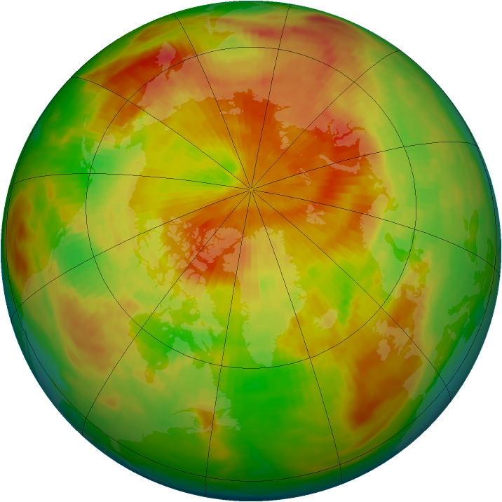 Arctic ozone map for 28 April 1983