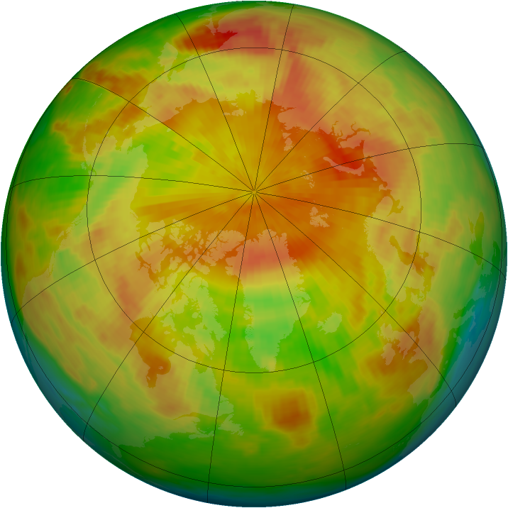 Arctic ozone map for 01 May 1983