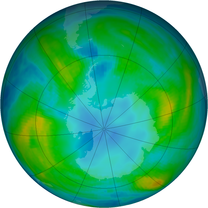 Antarctic ozone map for 01 May 1983