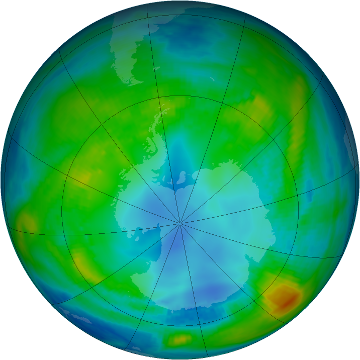 Antarctic ozone map for 04 May 1983