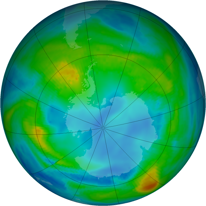 Antarctic ozone map for 05 May 1983