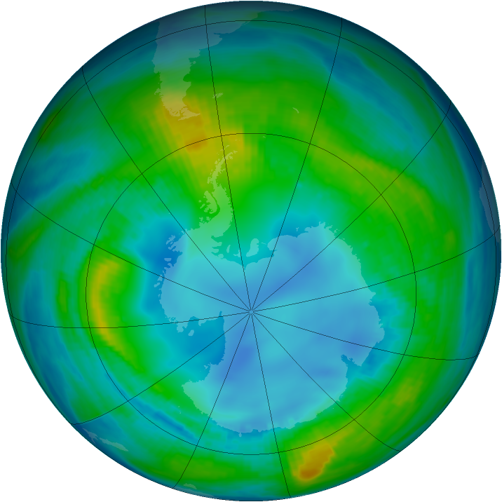 Antarctic ozone map for 06 May 1983