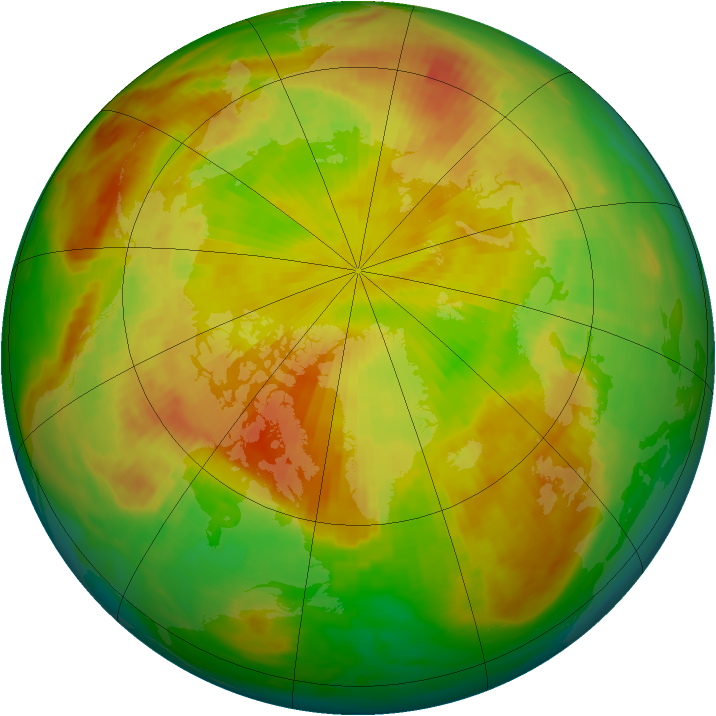 Arctic ozone map for 13 May 1983